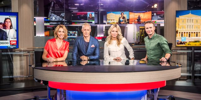 Karin Magnusson, André Pops, Carolina Neurath och Pelle Nilsson.  Janne Danielsson, SVT.