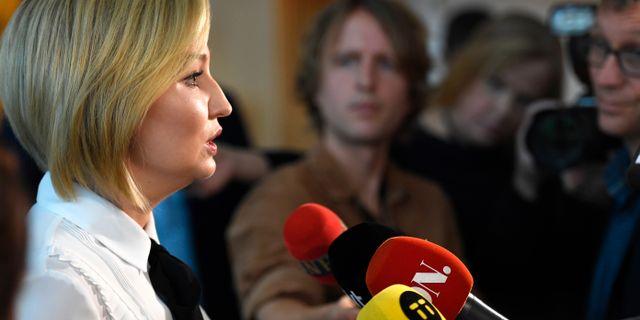 KD-ledaren Ebba Busch Thor. Pontus Lundahl/TT / TT NYHETSBYRÅN