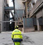 Arkivbild. Cementas fabrik i Slite på Gotland.  Fredrik Sandberg/TT / TT NYHETSBYRÅN