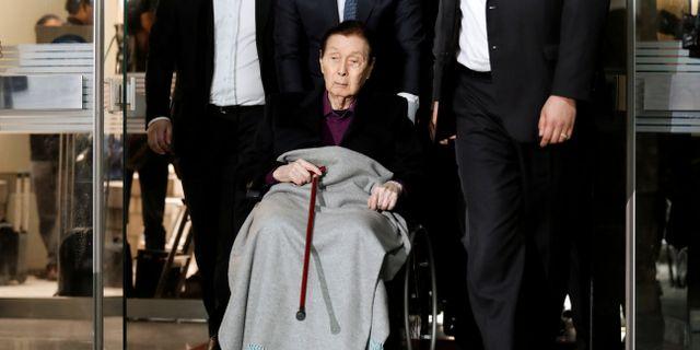Shin Kyuk-ho i samband med rättegången mot honom 2017 KIM HONG-JI / TT NYHETSBYRÅN