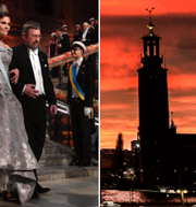 Kronprinsessan Victoria under Nobelfesten 2016 i Stadshuset i Stockholm. TT