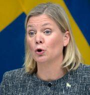 Finansminister Magdalena Andersson (S) har sedan tidigare meddelat att välfärden kommer att behöva 90 miljarder kronor extra fram till 2026. Janerik Henriksson/TT / TT NYHETSBYRÅN