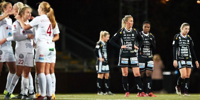 Rosengård och Piteå, två av Damallsvenskans topplag. Andreas Hillergren/TT / TT NYHETSBYRÅN