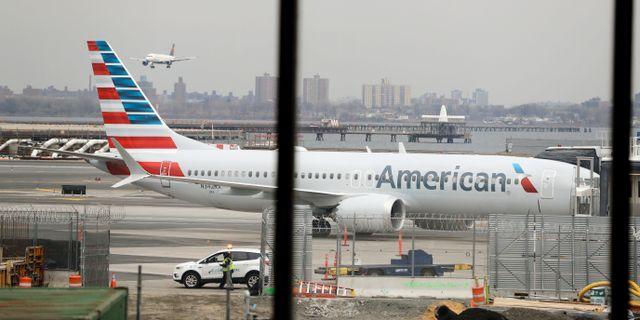 Ett American Airlines-plan/arkiv.  Frank Franklin II / TT NYHETSBYRÅN