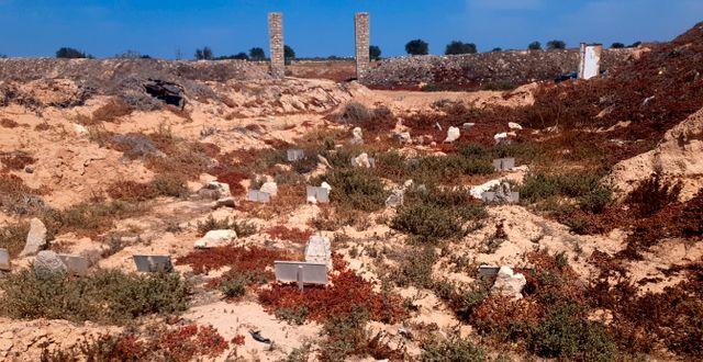 En begravningsplats för okända migranter i Zarzis, Tunisien.  Mehdi El Arem / TT NYHETSBYRÅN