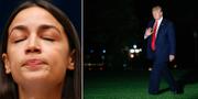 Alexandria Ocasio-Cortez och Donald Trump. TT