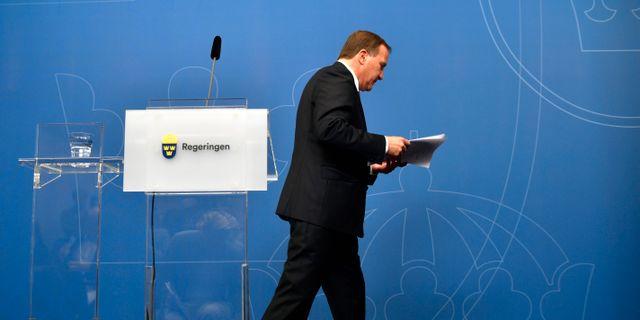 Statsminister Stefan Löfven.  Henrik Montgomery/TT / TT NYHETSBYRÅN