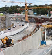 Det byggs vid Kungens kurva i Stockholm. Fredrik Persson / TT / TT NYHETSBYRÅN