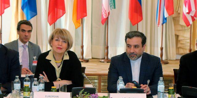 Toppmötet i Wien leds av Helga Schmid, generalsekreterare för EU:s utrikestjänst. Ronald Zak / TT NYHETSBYRÅN