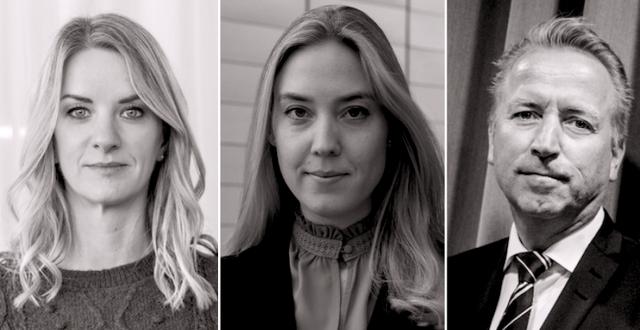 Maria Landeborn, Helen Broman, Jonas Olavi.  TT/Pressbild/TT