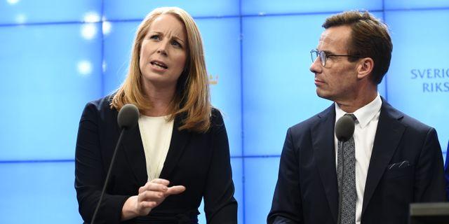 Annie Lööf och Ulf Kristersson i september 2018. Henrik Montgomery/TT / TT NYHETSBYRÅN