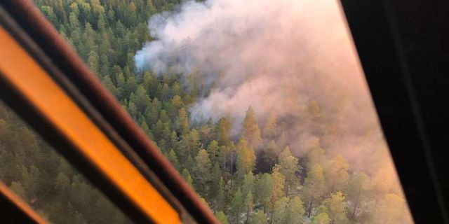 Bilder över brandområdet. Mora brandkår.