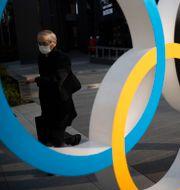 De olympiska ringarna vid Japans olympiska museum i Tokyo Hiro Komae / TT NYHETSBYRÅN