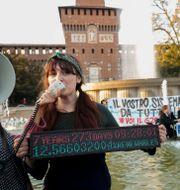 Klimatdemonstration i Milano, Italien. Luca Bruno / TT NYHETSBYRÅN