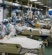Sjukhus i Wuhan under pandemins inledning.  TT NYHETSBYRÅN