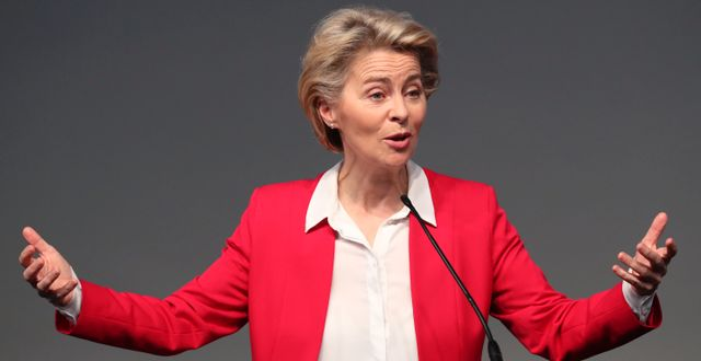 Ursula von der Leyen. Pedro Rocha / TT NYHETSBYRÅN