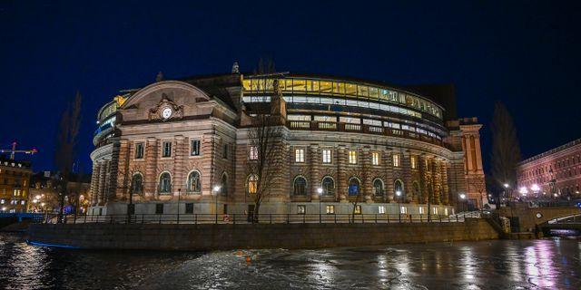 Riksdagshuset i Stockholm. Arkivbild. Jonas Ekströmer/TT / TT NYHETSBYRÅN