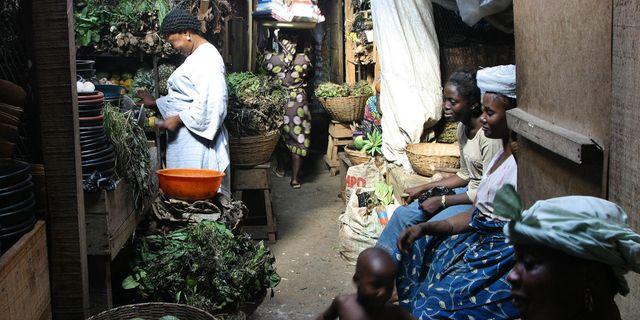 Handelsplats i Nigeria. Arkivbild.  AP