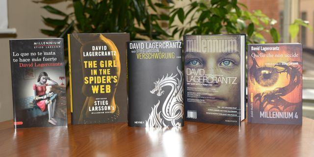 """Böckerna i """"Millennium""""-serien. Fredrik Sandberg/TT / TT NYHETSBYRÅN"""
