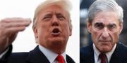Donald Trump och Robert Mueller. TT