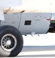 Det skadade Airbusflygplanet. STRINGER / TT NYHETSBYRÅN