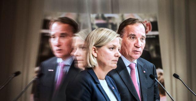 Magdalena Andersson (S) och Stefan Löfven (S). Tomas Oneborg/SvD/TT / TT NYHETSBYRÅN