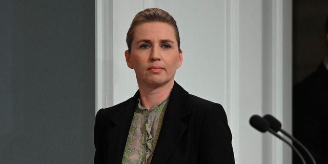 Danmarks statsminister Mette Fredriksen. PHILIP DAVALI / TT NYHETSBYRÅN