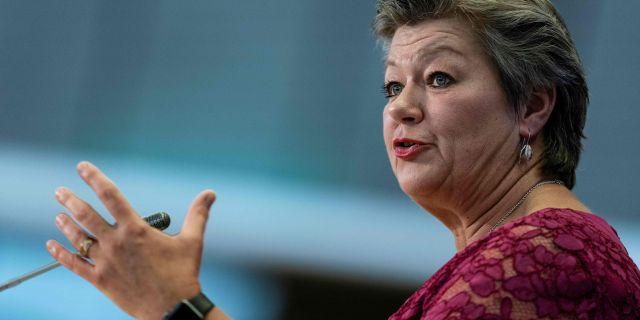 Ylva Johansson frågas ut idag. KENZO TRIBOUILLARD / AFP