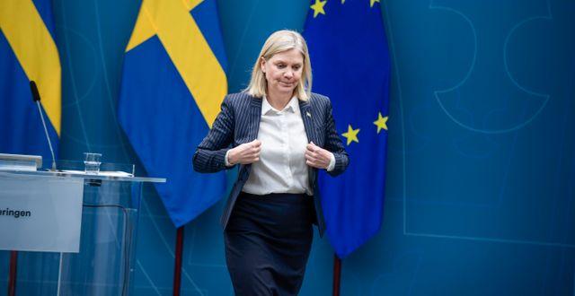 Arkivbild: Finansminister Magdalena Andersson (S) Carl-Olof Zimmerman/TT / TT NYHETSBYRÅN