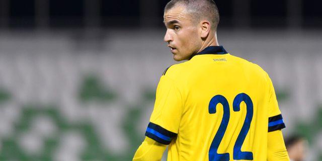 Dino Islamovic under Sverige–Moldavien-matchen den 9 januari.  CARL SANDIN / BILDBYRÅN