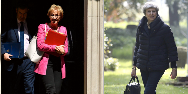 Andrea Leadsom och Theresa May.  TT