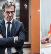 Finansinspektionens generaldirektör Erik Thedéen och Swedbanks vd Birgitte Bonnesen.  TT