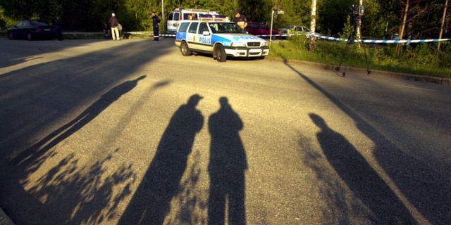 Bild från brottsplatsen, 2001. Tomas Oneborg/TT / Svenska Dagbladet