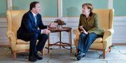 Arkivbild. Statsminister Stefan Löfven (S) och Tysklands förbundskansler Angela Merkel. Henrik Montgomery/TT / TT NYHETSBYRÅN