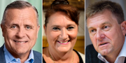 Rikard Josefsson, Lena Olving och Tom Erixon. Avanza, TT