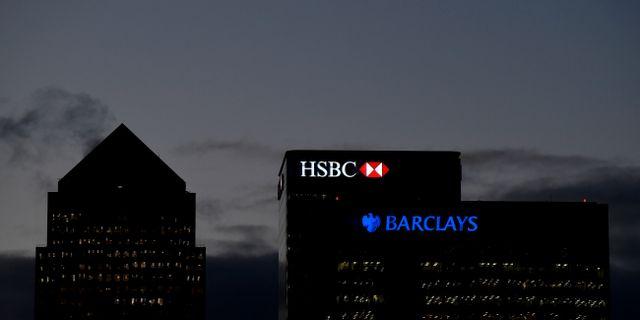 HSBC är noterade i London. Här London-kontoret.  Toby Melville / TT NYHETSBYRÅN