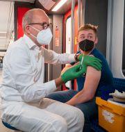 Vaccination i Tyskland. Christophe Gateau / TT NYHETSBYRÅN