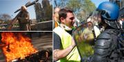 Demonstranterna är bland annat missnöjda med att stora summor av statens pengar satsas på att restaurera Notre-Dame. TT