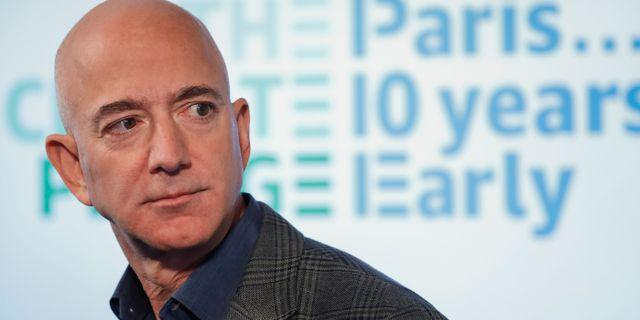 Arkivbild: Amazons vd Jeff Bezos.  Pablo Martinez Monsivais / TT NYHETSBYRÅN