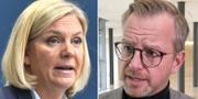 Finansminister Magdalena Andersson (S) och inrikesminister Mikael Damberg (S). TT