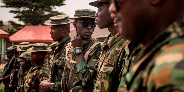 Soldater i Nigeria, arkivbild. CRISTINA ALDEHUELA / AFP