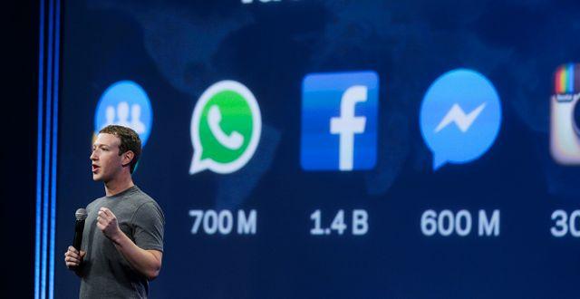 Mark Zuckerberg. Arkivbild. Eric Risberg / TT NYHETSBYRÅN