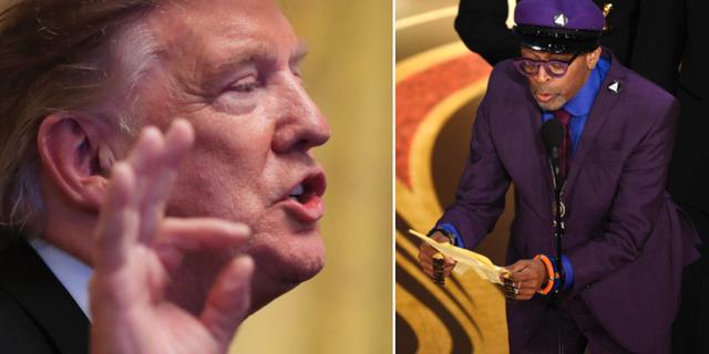 Donald Trump och Spike Lee. TT