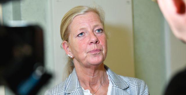 Kristina Axén Olin (M).  Henrik Montgomery/TT / TT NYHETSBYRÅN
