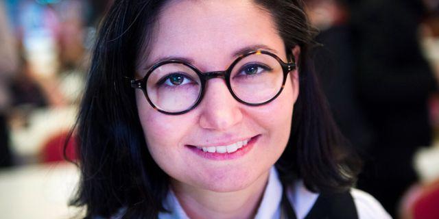 Feministisk Initiativs nya partiledare Gita Nabavi. Emil Langvad/TT / TT NYHETSBYRÅN