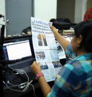 Journalist på La Prensa/Arkivbild Eduardo Verdugo / TT NYHETSBYRÅN