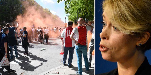 Ajaxsupportrar i Stockholm. Annika Strandhäll. TT