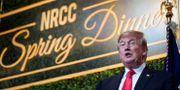 Donald Trump under middagen. JOSHUA ROBERTS / TT NYHETSBYRÅN