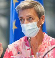 Margrethe Vestager, EU-kommissionär i konkurrensfrågor.  Rebecca Droke / TT NYHETSBYRÅN
