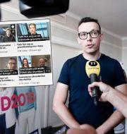 SD:s kommunikationschef Joakim Wallerstein/bild från Riks Youtubekanal. Stina Stjernkvist/TT / TT NYHETSBYR≈N